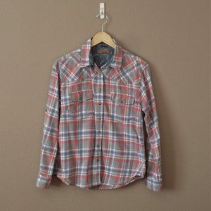 Flannel Shirt Plaid Long Sleeve GUC sz S